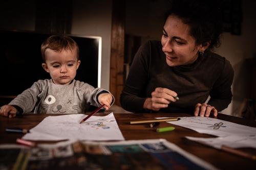 Photo famille lifestyle à Bolquère