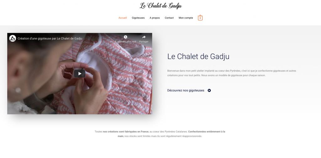 Page d'accueil lechaletdegadju.com